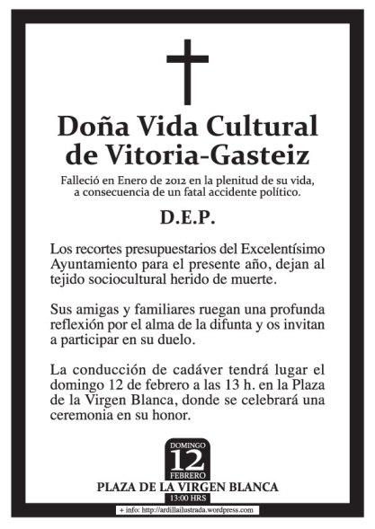 Réquiem por la cultura en Vitoria-Gasteiz